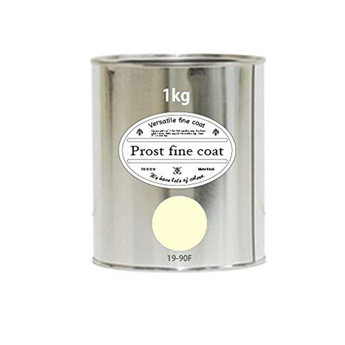 ペンキ水性塗料19-90Fアイボリーホワイト1kg/艶消し壁天井壁紙壁クロスファインコート