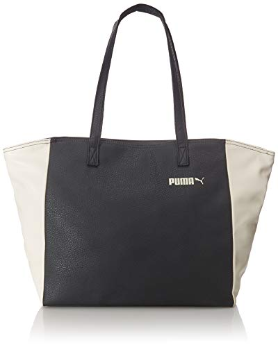 PUMA Damen Prime Classics L Shopper Tasche, Black-Whisper White, OSFA