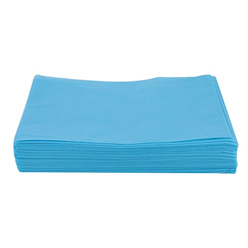 Portable Massage Table, Tattoo Bed Sheet, No Wash Bed Sheet Waterproof Oil-proof Bed Cover for Salon SPA Tattoo Massage Table Hotels (sheets blue)