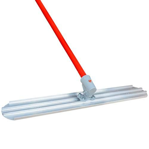 48 X 8 Round End Bull Float Blade and 18' Handle Concrete Screed Finishing Tool