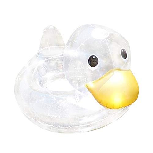 Qianber Flotadores de bebé pequeño pato piscina juguete anillo de natación verano grueso tubo de natación