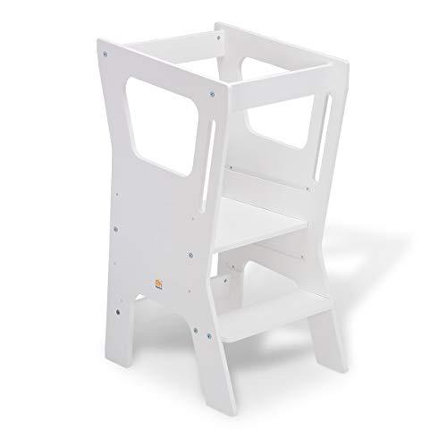 FabiMax Lernstuhl Lernturm Küchenhelfer Vario 4, weiß lackiert