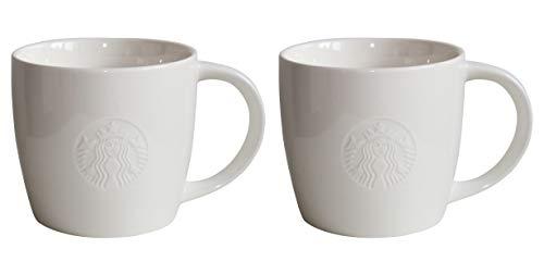 Starbucks Mug Grande Fore Here Serie Weiss Collectors Set Varianten (2 Grande/16oz/473ml)