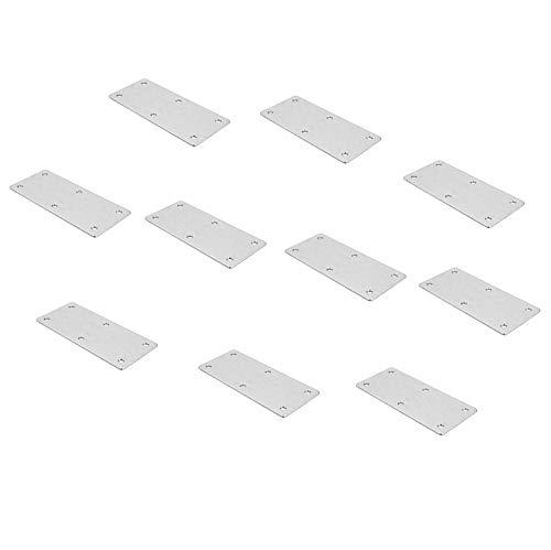 Gedotec Meubelverbinder, metaal, verbindingslus met 6 schroefgaten voor panelen en meubels, werkbladenverbinder, lengte 112 mm, platen van staal, 10 stuks