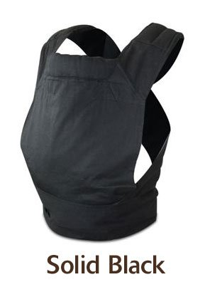 FreeHand Mei Tai Baby Carrier in Solid Black