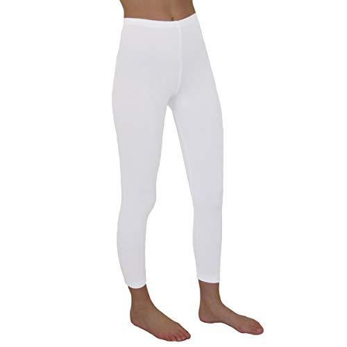HERMKO 2720 Kinder Legging Unisex aus 100% Bio-Baumwolle für Mädchen und Knaben, Farbe:weiß, Größe:140