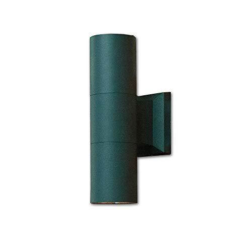 Proyector de fachada para la pared de la casa en luz exterior antracita 2x E27 hasta 60 vatios 230V para la luz de pared de patio de jardín al aire libre