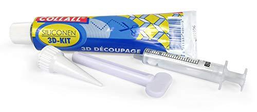 CollAll - Silikonkleber mit Zubehör, Transparent, 80 ml