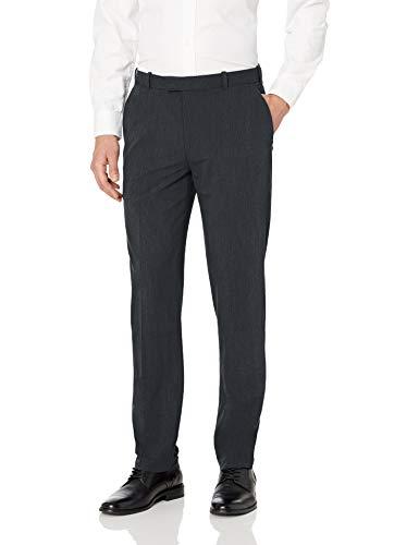 Van Heusen Men's Flex Straight Fit Flat Front Pant, Slate Blue, 38W x 30L