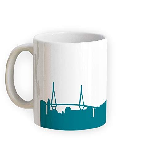 Tasse Hamburg Skyline - Bürotasse Kaffeebecher Städtetasse 5 Farben - Personalisierte Geschenkidee für Hamburger & Fans, Umzug Richtfest Architekt