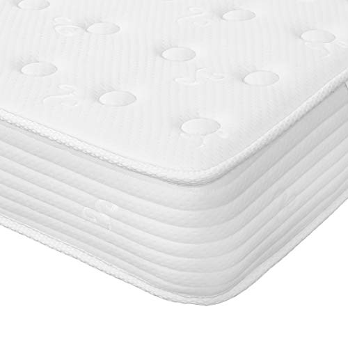 Good Nite 3FT Single Mattress 7-Zone Pocket Sprung Mattress with Memory Foam Soft Knitted Fabric 7.9 inch Thickness