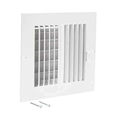"EZ-FLO 61660 Two-Way 6"" x 6"" Steel Sidewall or Ceiling Ventilation Return Filter Air Register"