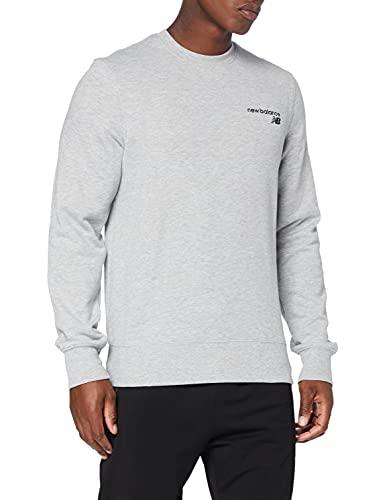 New Balance Herren Top Nb Classic Core Fleece Crew Top, Top, MT03911, Grau - Athletic Grey, M