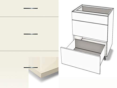 Premium-Ambiente AGRHPA50 Unterschrank 3-Schubladen Soft Closing Hochglanz (Breite 50cm, 82 Magnolia)