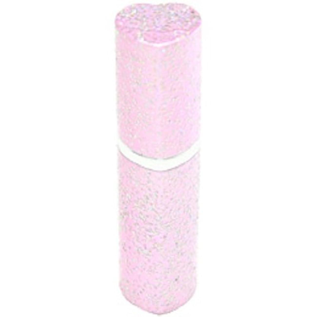 禁止するジムサージアトマイザー ラメハート ピンク 3ml 香水入れ