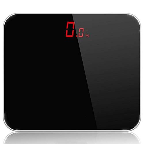 LQH Waage Badezimmer-Waage, intelligenter Haushalt elektronische Digital-Gewicht-Balance mit LCD-Display, 180Kg / 400LB Schwarz