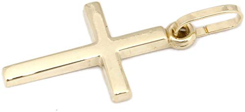 Kreuz Gold 585 poliert 22 mm 14 Karat Anhänger Gelbgold Unisex Konfirmation