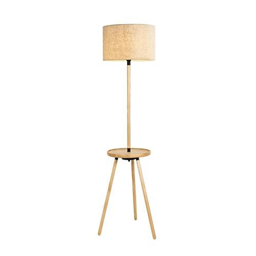 LY88 Licht LED Drie Voet Vloerlamp Klassieke Vloerlamp met Drum Shade Leeslamp voor Woonkamer Slaapkamer 0612P Kleur: Bruin