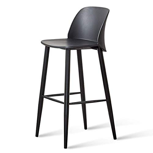 N/Z Daily Equipment Chaise Modern Pp Eco Friendly Plastic Seat Barstool Kitchen Breakfast Dining Chair |Pub| Bar Bistro Cafe Counter High Chair Stools with Counter Stool Black