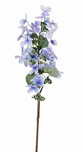 artplants.de Set 12 x Hortensia Artificial Paniculata CHADORA, Azul, 75cm, Ø 15cm - Conjunto de Flores de plástico - Pack de hortensias Decorativas