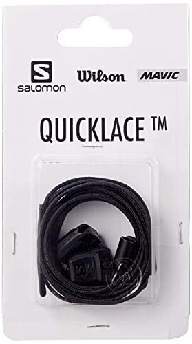 Salomon Quicklace Kit Unisex Cordones de repuesto, Negro (Black), One Size