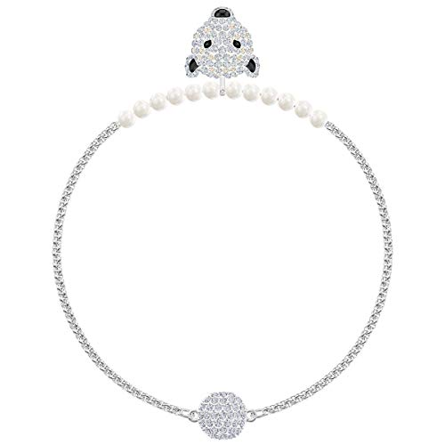 SWAROVSKI Crystal Authentic Polar Bestiary Rhodium Plated Bracelet, White, Large - Lovely Sparkling Fashion Jewelry