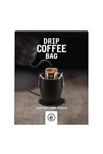 Filterkaffee von emilo - 100% Arabica Kaffee Probier Set - Filterbeutel mit gemahlenem Kaffee in verschiedenen Sorten - frisch gerösteter aroma Kaffee – Drip Coffee Bag TASTEBOX, 8 Stück