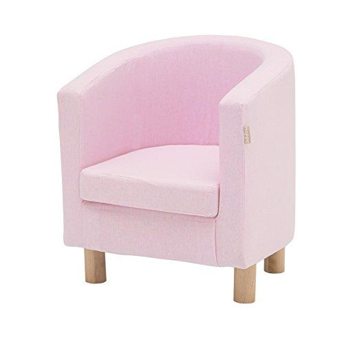 Hoppekids mit abnehmbarem Bezug hellrot/rosa mit Füßen aus Birke, 6 Farben, 49 x 49 x 55 cm