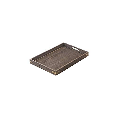 LERC Wooden Tray, Cheese Cake Tea Serving Dish Trays for Gastronomy & Household Also as a Food Plate, with Handles