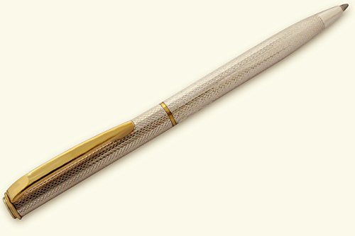 Penna Sfera in Argento Massiccio 925 Refill Internazionale tipo Parker