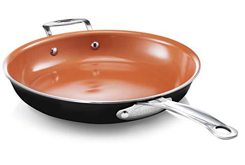 Gotham Steel Nonstick Frying Pan - 12.5 Inch Ceramic Frying Pans Nonstick Pan Skillets Nonstick Non Stick Pan Cooking Pan Fry Pan Skillet Large Frying Pan Non Sticking Pan – Dishwasher Safe