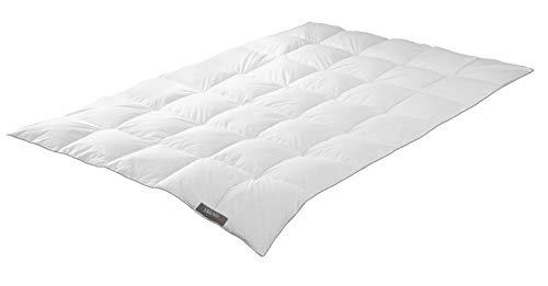 Badenia Trendline Comfort Daunendecke, Baumwolle, Weiß, 135 x 200 cm