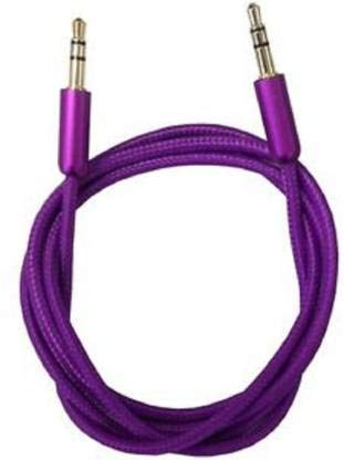 M Tech 3.5 MM Round Stereo for Supported mi xiaomi.Samsung.vivo.& All smartMobile, Tablet & Car Player 1.5 m AUX Cable (Compatible with Mobile,Laptop,Tablet,Mp3,Gaming Device,Random Color