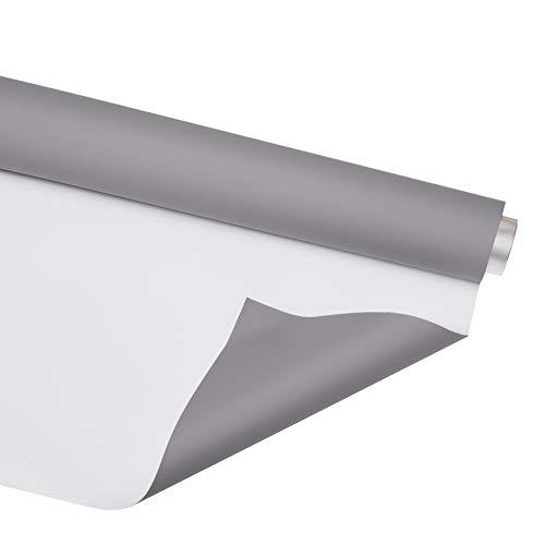 Bessel BSL6014 - Fondale in vinile, 1,35 m x 3 m, colore: grigio/bianco