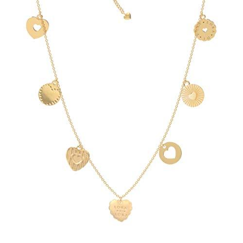 Lora di Lora Ketting Chikki Love. Korte ketting, in lengte verstelbaar 18K Vermeil Goud voor Vrouwen 36 cm + 5 cm