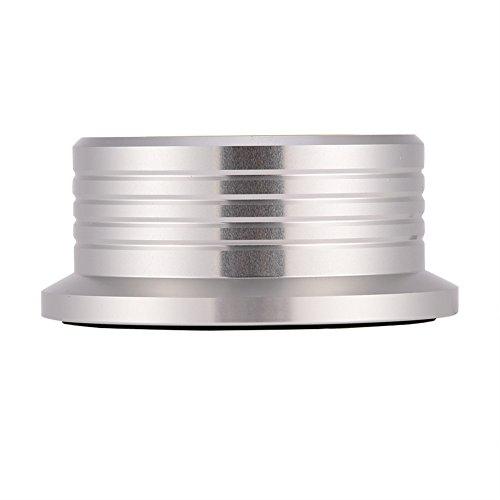 Wocume Record Weight Stabilizer, Schallplatten-Schallplatten-Stabilisatorklemme zur Erkennung der Wasserwaage bei 50/60Hz(Silber)