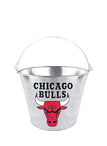 Chicago Bulls Galvanized Steel Beer Bucket 9in diameter x 7in tall 5qt capacity Officially licensed...