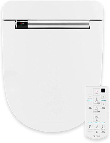 VOVO STYLEMENT VB-4100SR Elektronischer Smart Bidet Toilettensitz, Dusch-WC, Rund, Hergestellt in Korea, Selbstreinigende Düse aus Volledelstahl, Nachtlicht, Desodorierung, beheizter Sitz