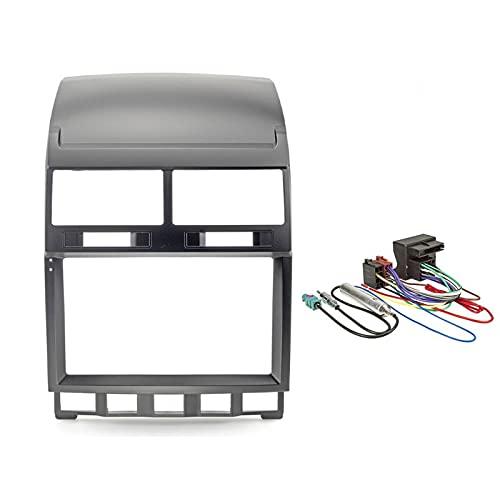 Sound Way - Kit Montaggio Mascherina Adattatore autoradio 9' Pollici Compatibile con Volkswagen Touareg 2002-2010 - Multivan T5 - KA22-1026