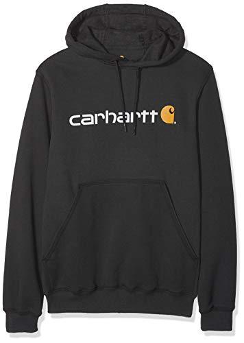 Carhartt .100074.001.S003 Signature Logo Sweat à capuche Noir Taille XS