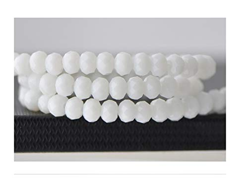 TWWSA Cuentas espaciadoras 4 * 3mm Crystal Beads Czech Faceted Jewelry Hallazgos Spacer Pendientes Brazalete Pulsera Lariat Collar Accesorios Hecho a Mano (Color : Other, Item Diameter : 4x6mm 90pcs)