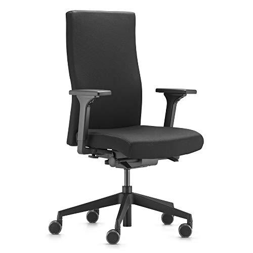 Trendoffice to-Strike Comfort pro, ergonomischer Bürostuhl, gepolstert, schwarz, mit Armlehnen, modernes Design, Homeoffice, umweltzertifiziert, by Dauphin