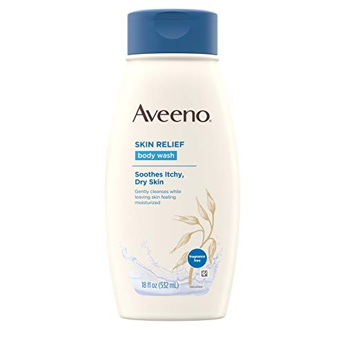 Aveeno Skin Relief Body Wash, Fragrance Free, 18 FL oz