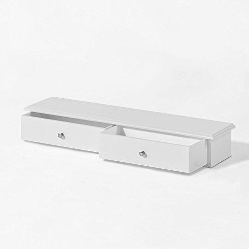 Sobuy® - Estante librería con cajones para guardar pequeños objetos, color blanco, FRG43-W