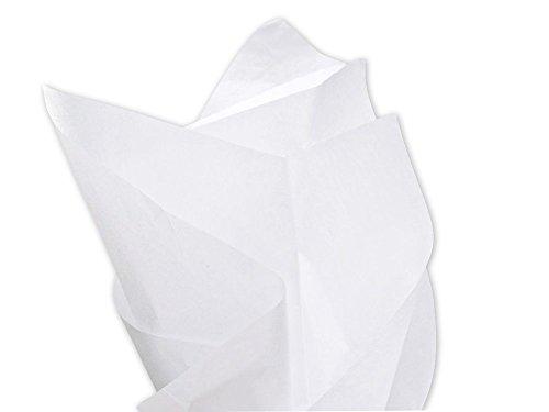 10 hojas de papel de seda libre de ácidos, varios colores, 500 x 750, color blanco Qty: 1 SAMPLE SHEET