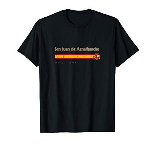 San Juan de Aznalfarache Ciudad Vintage Bandera España Camiseta