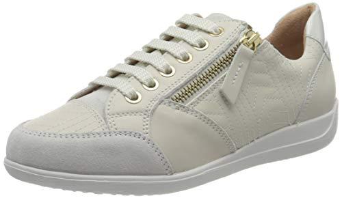 Geox Damen D Myria C Sneaker, Off White, 39 EU