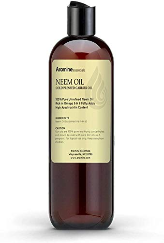 Neem Oil, 100% Pure Cold Pressed for Skincare, Hair care, and Plants (8oz)