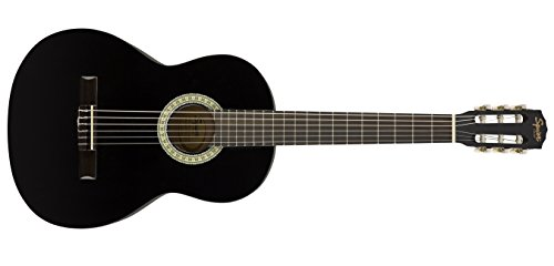 Squier SA-150N Squier Beginner Nylon String Classical Acoustic Guitar - Gloss Black Finish