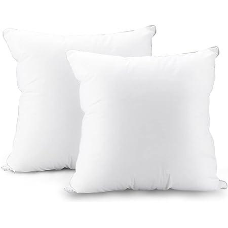 クッション AIDUCHO ヌードクッション 首枕 中身 高反発 抱き枕 カバーコットン100% 肌に優しい 抗菌防臭 柔らかい 圧倒的ボリューム感 型崩れしない吸汗 速乾 洗える 45×45cm 2個セット